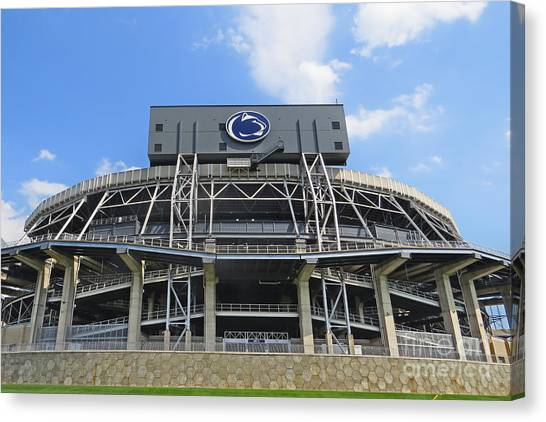 Penn State University Canvas Print - Home Of The Lions by Dawn Gari