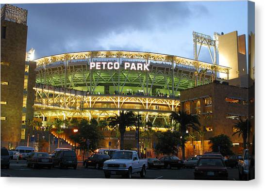 San Diego Padres Canvas Print - Home Of The Padres by Don Olea