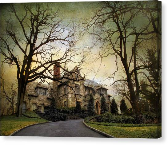 Driveway Canvas Print - Home On A Hill by Jessica Jenney