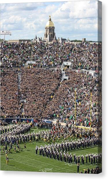 Notre Dame University Canvas Print - Home Opener 2012 by Michael Cressy