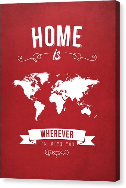 Art In America Canvas Print - Home - Red by Aged Pixel