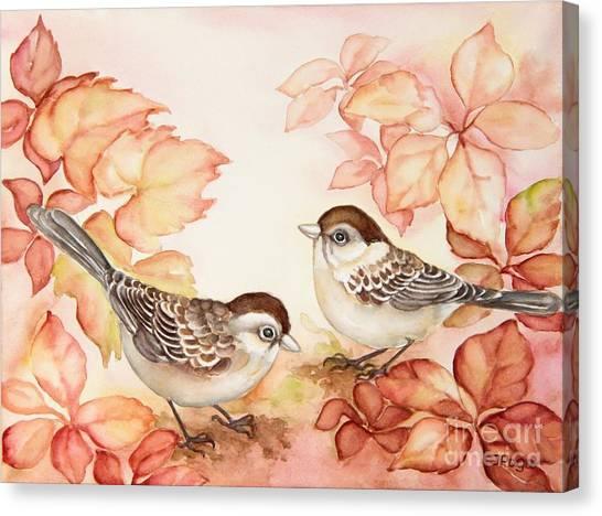Home Sparrows Canvas Print