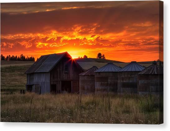 Farmstead Canvas Print - Home Sweet Home by Mark Kiver