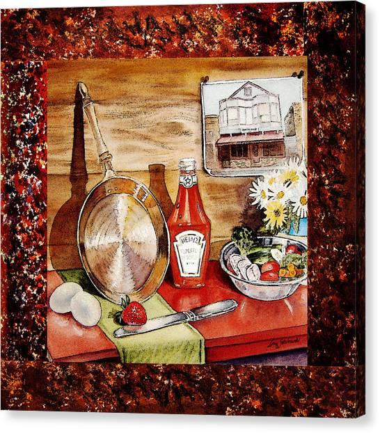 Ketchup Canvas Print - Home Sweet Home Welcoming Five by Irina Sztukowski