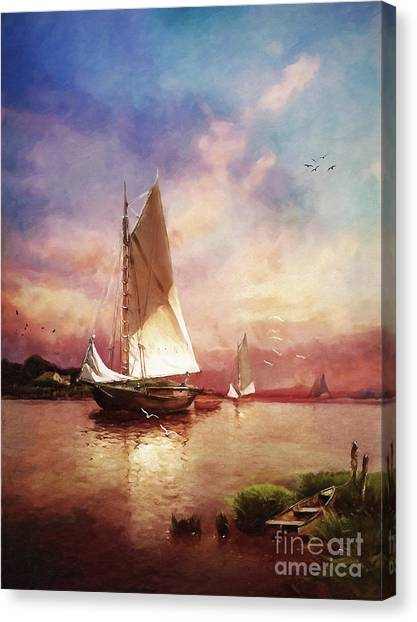 Canvas Print - Home To The Harbor by Lianne Schneider