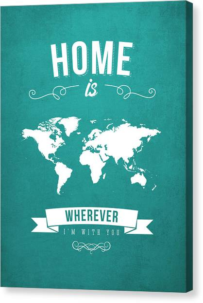 Art In America Canvas Print - Home - Turquoise by Aged Pixel