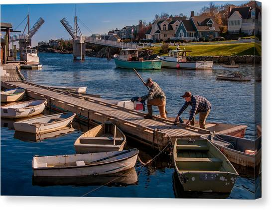 Home With The Catch Canvas Print