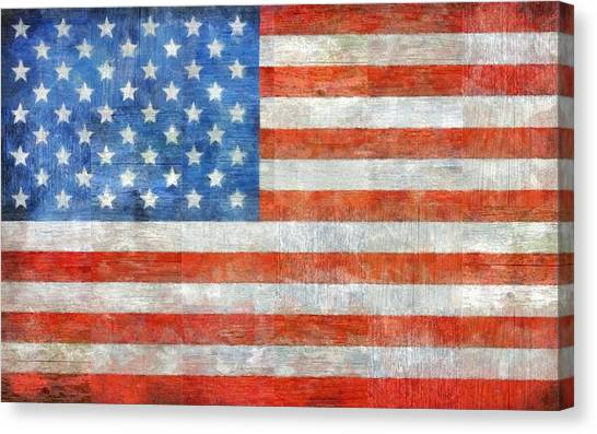 American Flag Canvas Print - Homeland by Michelle Calkins