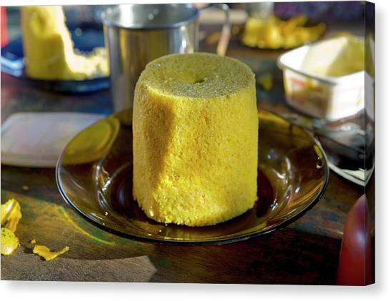 Cornbread Canvas Print - Homemade Cake by Peter Menzel/science Photo Library