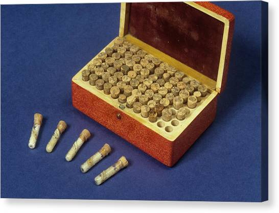 1880s Canvas Print - Homeopathic Medicine Phials by Science Photo Library