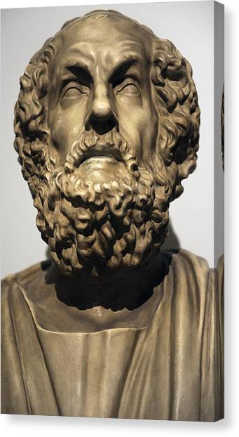 Hellenistic Art Canvas Print - Homer  by Greek School