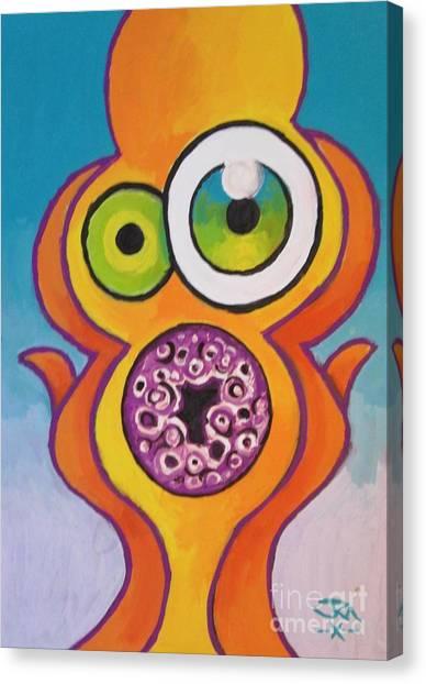 Homer's Scream Canvas Print by Jedidiah Morley
