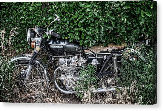 Honda 450 Motorcycle Canvas Print
