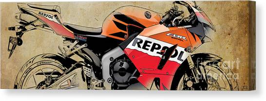 2013 Canvas Print - Honda Cbr 600rr 2013 by Drawspots Illustrations