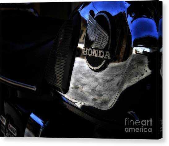 Dirt Bikes Canvas Print - Honda Cd200 Road Master by Stelios Kleanthous