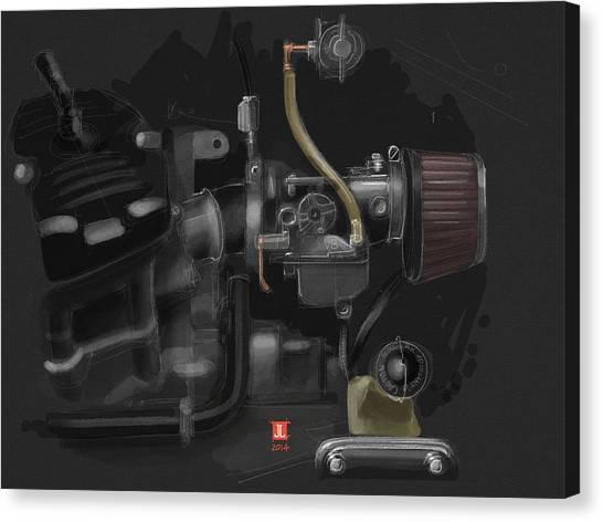 Honda Cx500 Carb Canvas Print