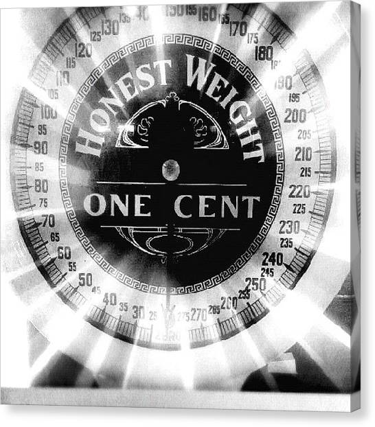 Machinery Canvas Print - Honest Weight by Scott Pellegrin