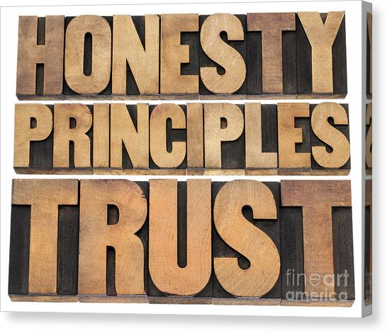 Honesty Principles And Trust Canvas Print