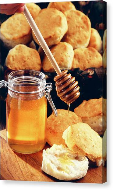 Sweet Tea Canvas Print - Honey And Scones by Scott Bauer/us Department Of Agriculture/science Photo Library
