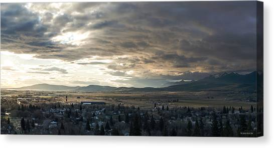 Honey Lake Valley Sunrise Canvas Print by The Couso Collection