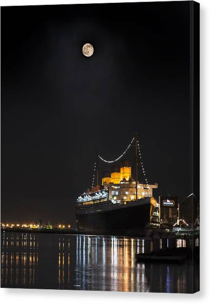 Honey Moon Reflects With The Queen By Denise Dube Canvas Print