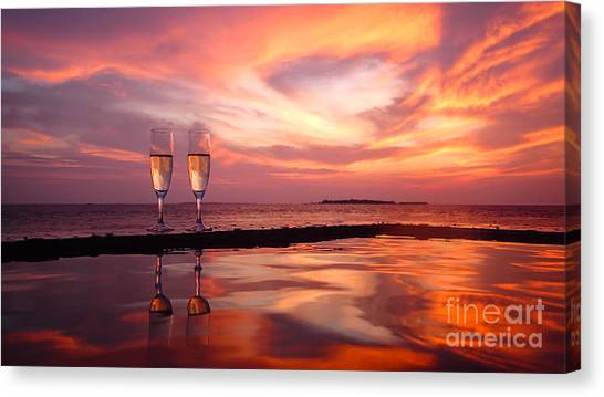 Honeymoon - A Heart In The Sky Canvas Print