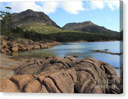Honeymoon Bay Tasmania All Profits Go To Hospice Of The Calumet Area Canvas Print