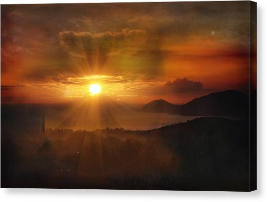 Honeymoon Sunset Canvas Print