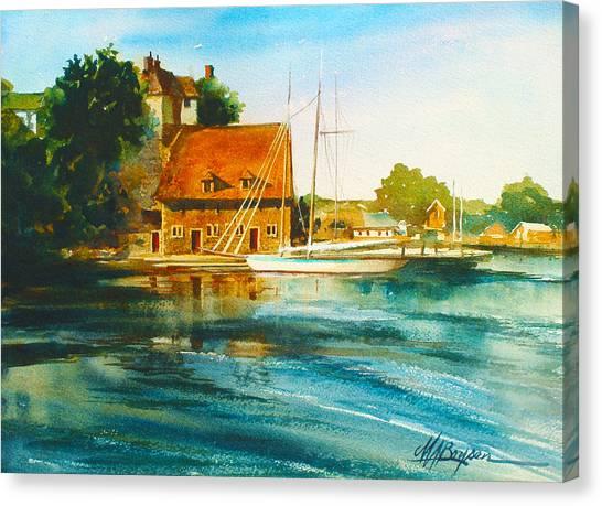 Honfleur Harbor Canvas Print