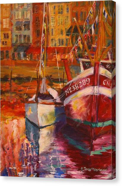 Honfleur Harbor Canvas Print