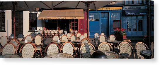 Empty Chairs Canvas Print - Honfleur Normandy France by Panoramic Images