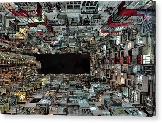 China Canvas Print - Hong Kong by Attila Balogh