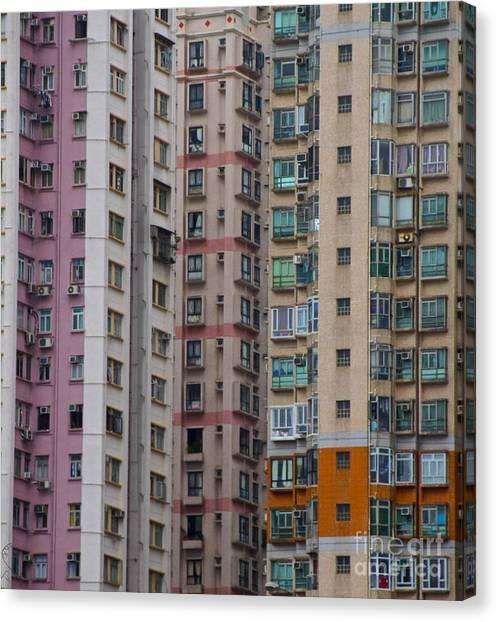 Hong Kong Buildings  Canvas Print