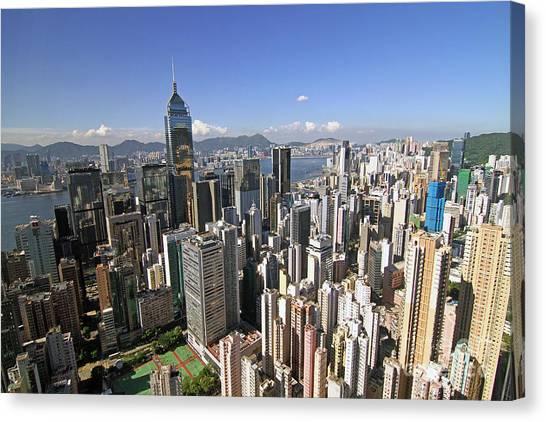 Hongkong Canvas Print - Hong Kong Causeway Bay by Lars Ruecker