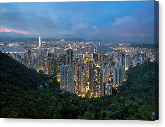 Hong Kong From Sky Terrace 428 At Victoria Peak Canvas Print