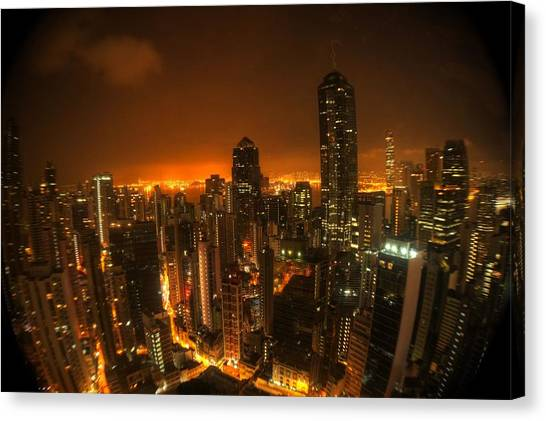 Hong Kong Gotham Canvas Print