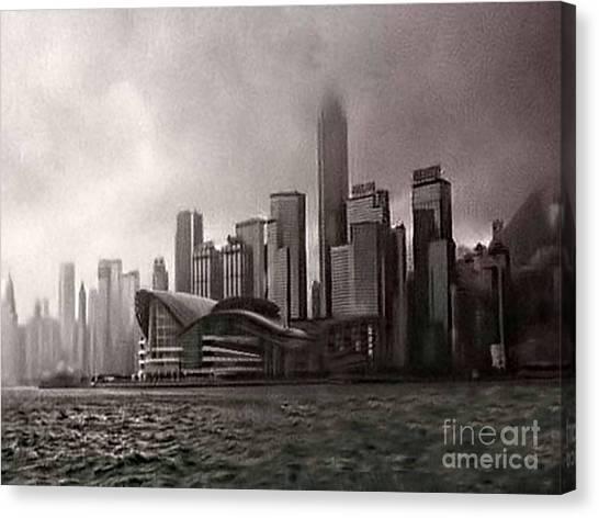 Hong Kong Rain 5 Canvas Print