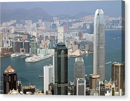 Hong Kong Canvas Print - Hong Kong Skyline by Lars Ruecker