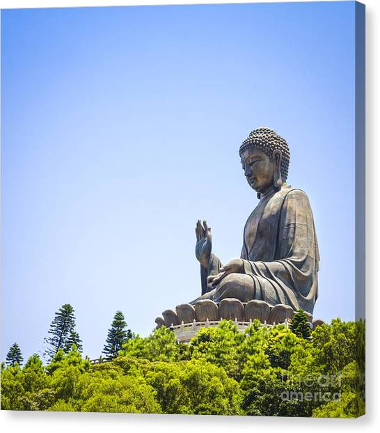 Buddha Canvas Print - Hong Kong The Giant Buddha by Colin and Linda McKie
