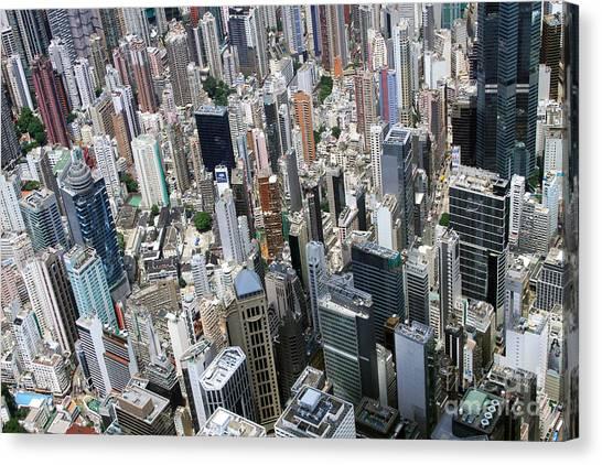 Hongkong Canvas Print - Hong Kong's Density by Lars Ruecker