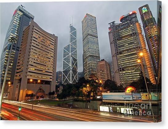 Hong Kong's Financial Center Canvas Print by Lars Ruecker
