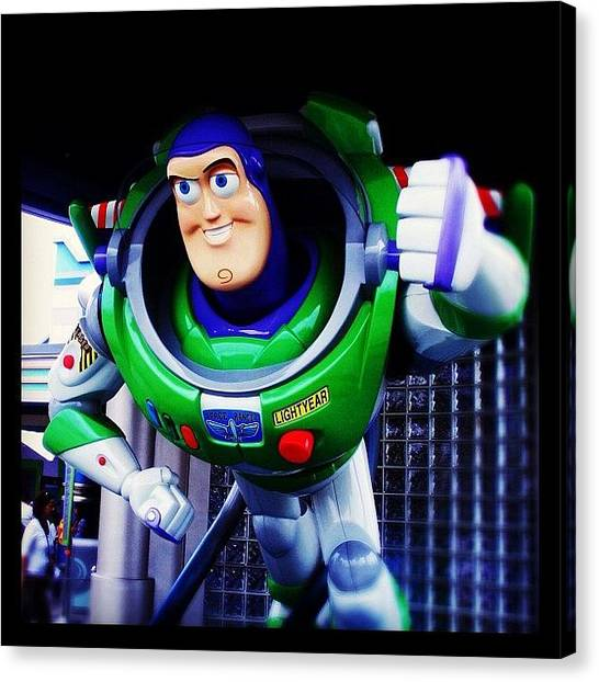 Hong Kong Canvas Print - Buzz Lightyear by Clare Hardy