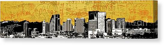 Pacific Division Canvas Print - Honolulu Post Card - 96813 by Joe Finney