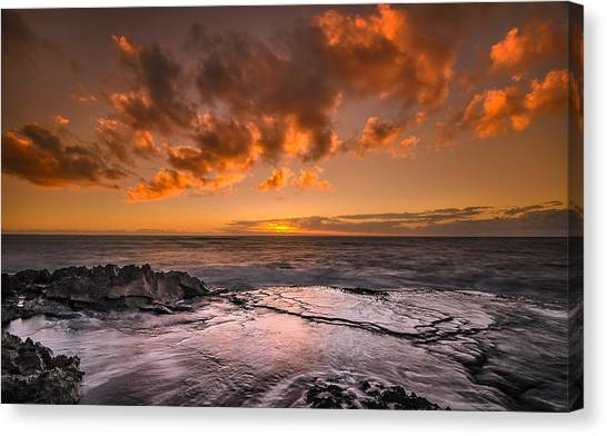 Honolulu Sunset At Koolina Resort Canvas Print