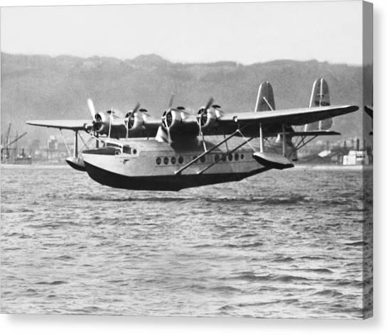 Seaplanes Canvas Print - Honolulu To Alameda Flight by Underwood Archives