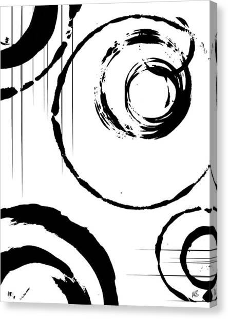 Black And White Art Canvas Print - Honor by Melissa Smith