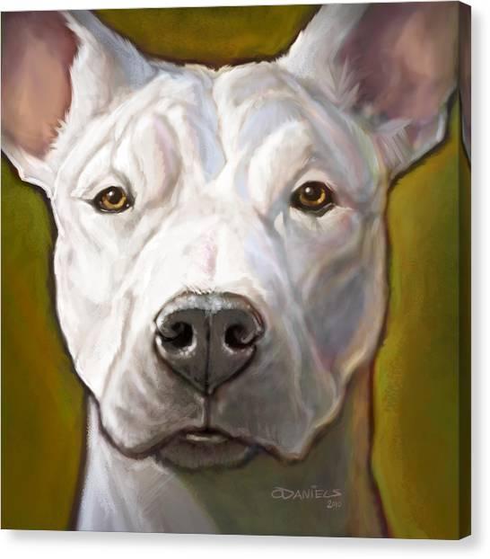 Pit Bull Canvas Print - Honor by Sean ODaniels