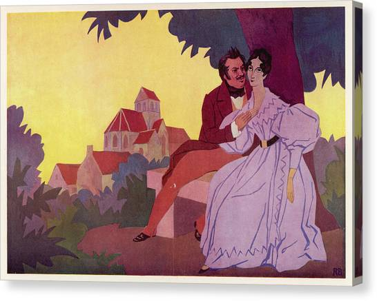 Honore De Balzac With His  Greatest Canvas Print by Mary Evans Picture Library