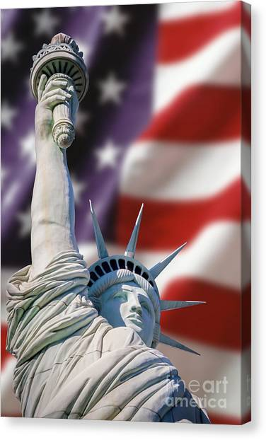 Honour Liberty And Freedom Canvas Print