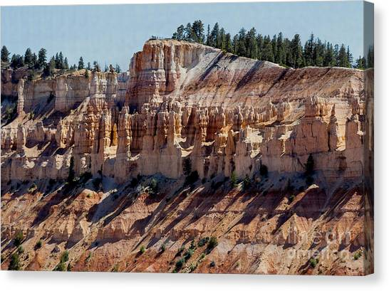 Canvas Print featuring the photograph Hoo Doo Line-up by Mae Wertz